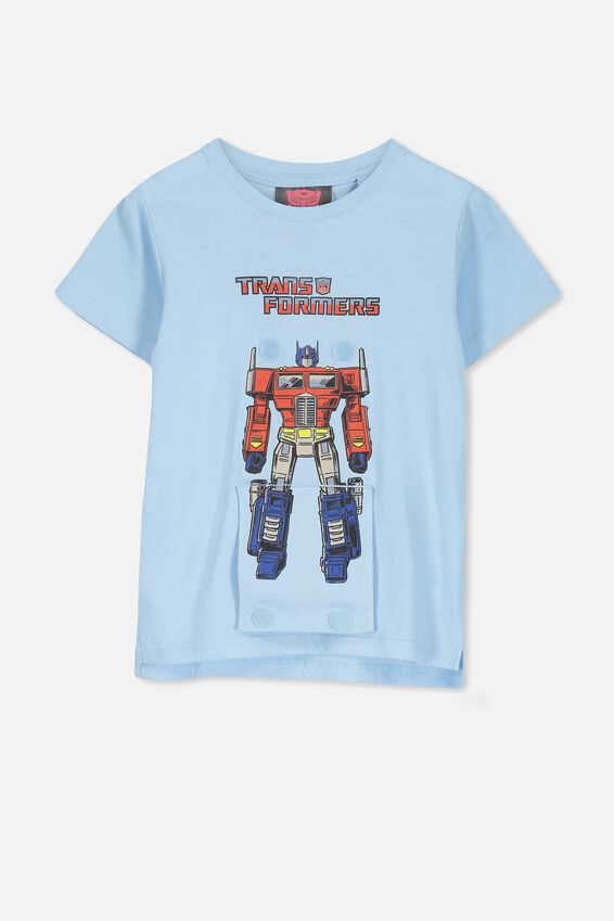 Short Sleeve License1 Tee, BUDGIE BLUE/INETRACTIVE TRANSFORMERS