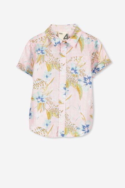 Jackson Short Sleeve Shirt, PINK ALOHA