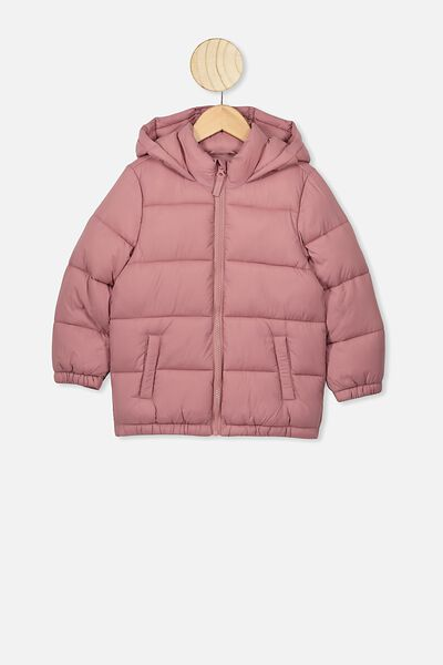 Frankie Puffer Jacket, VERY BERRY