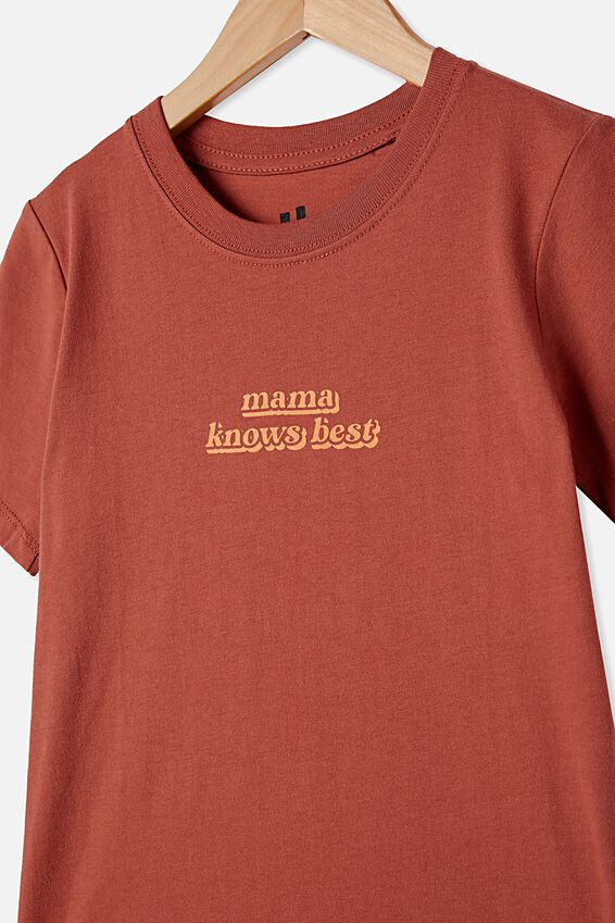 Max Skater Short Sleeve Tee, CHUTNEY / MAMA KNOWS BEST