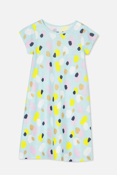 Carrie Longline Ss Nightie, ABSTRACT ANIMAL