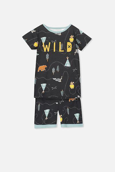 Joshua Short Sleeve Pyjama Set, WILD