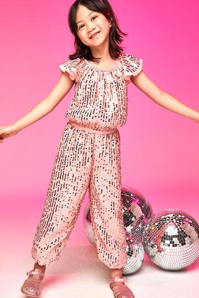 Bianca Dress Up Jumpsuit, DUSTY PINK/GOLD SPARKLE