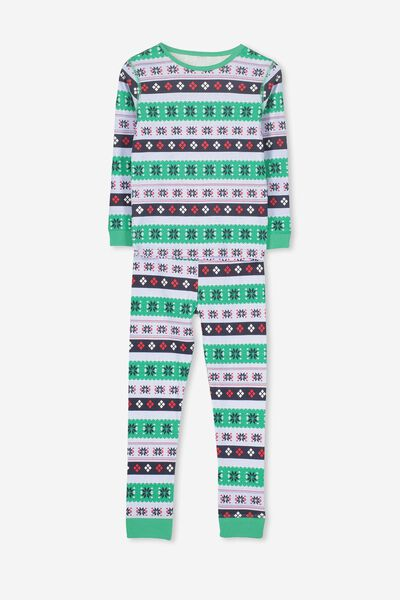 Harry Long Sleeve Boys PJ Set, XMAS BOYS FAIRISLE