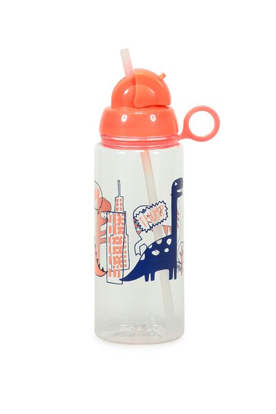 Spring Drink Bottle, ORANGE DINO CITY
