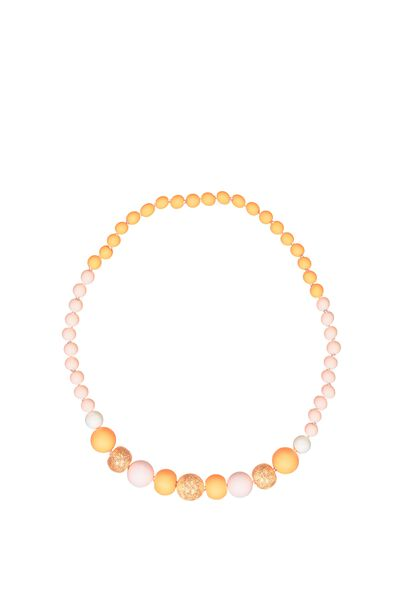 Mixed Beaded Necklace, ROSE GOLD FOIL