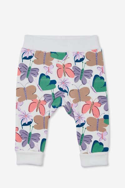 Peta Trackpant, VANILLA/TAUPY BROWN BEATRICE BUTTERFLY