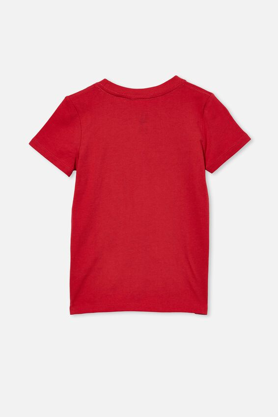 Short Sleeve License Embellished  Tee, LCN MAR LUCKY RED / IRON MAN