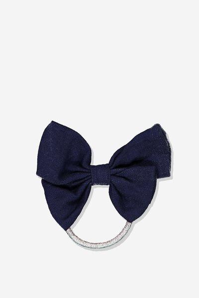Bow Hair Tie, PEACOAT