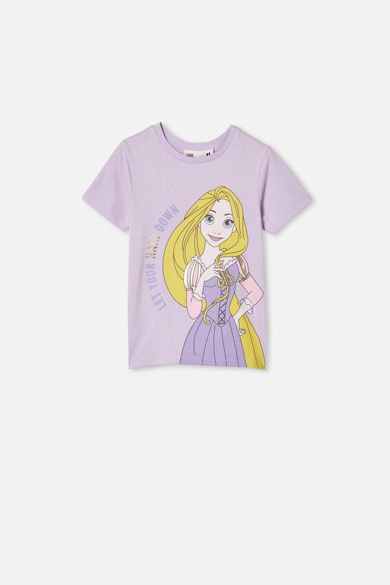 Disney Rapunzel Short Sleeve Tee, LCN DIS VINTAGE LILAC/RAPUNZEL HAIR DOWN