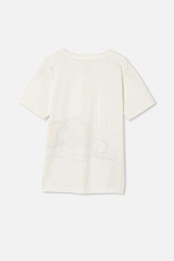 License Drop Shoulder Short Sleeve Tee, LCN SAN RETRO WHITE / GUDETAMA