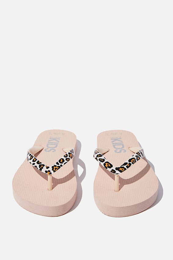 Printed Flip Flop, PEACH WHIP/ANIMAL