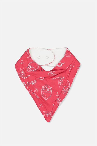 Dribble Bib, BONFIRE RED/PIRATE