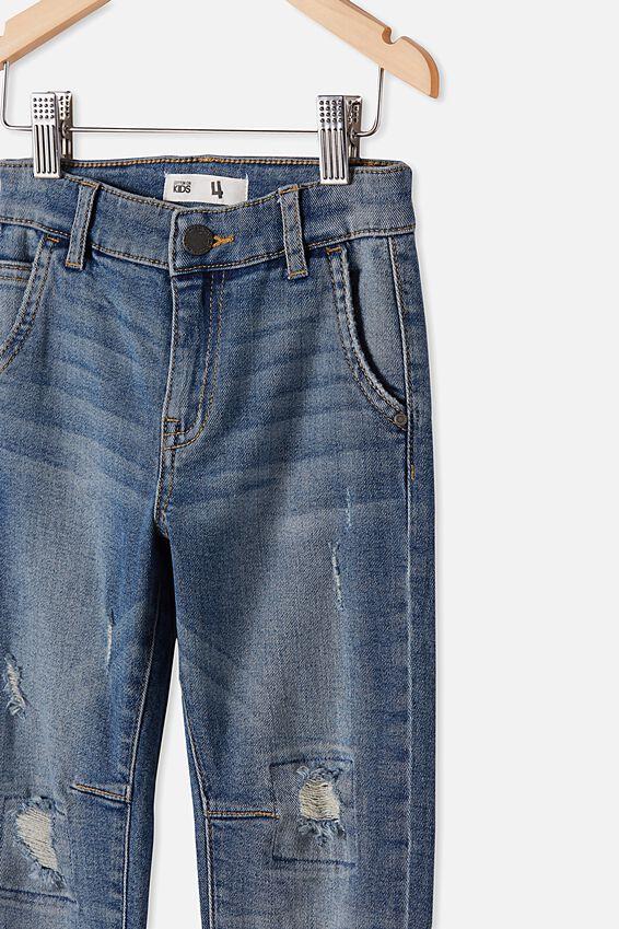 Street Jean, INFINITY MID BLUE WASH