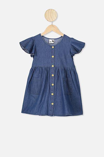 Vanessa Short Sleeve Dress, DARK WASH