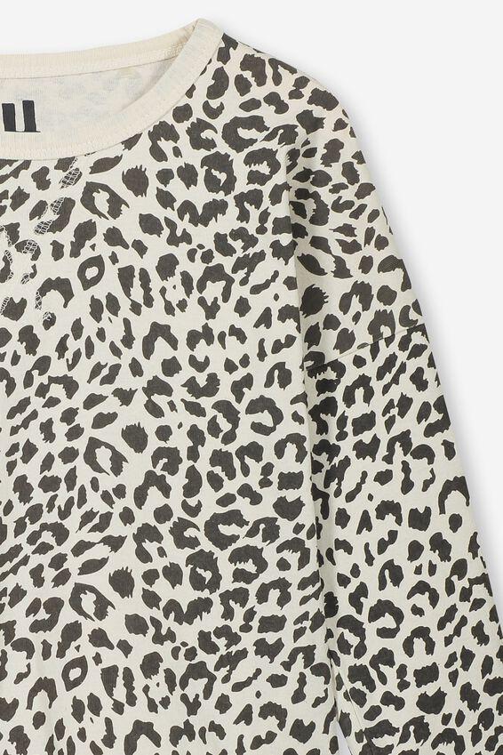 Kit Long Sleeve Top, DARK VANILLA/PHANTOM LEOPARD