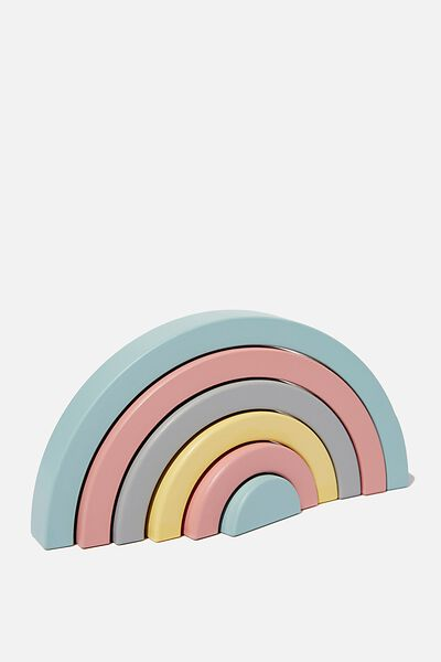 Wooden Stackable, RAINBOW