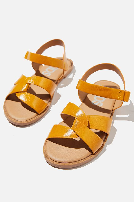 Fisherman Weave Sandal, HONEY GOLD