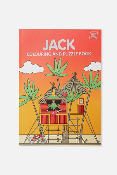 Sunny Buddy Colouring In Book, JACK