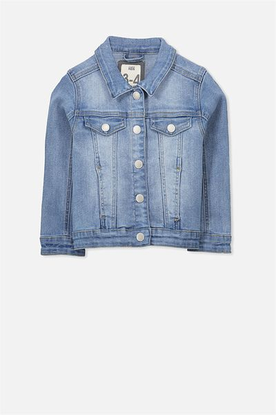 Dolly Denim Jacket, MID BLUE WASH