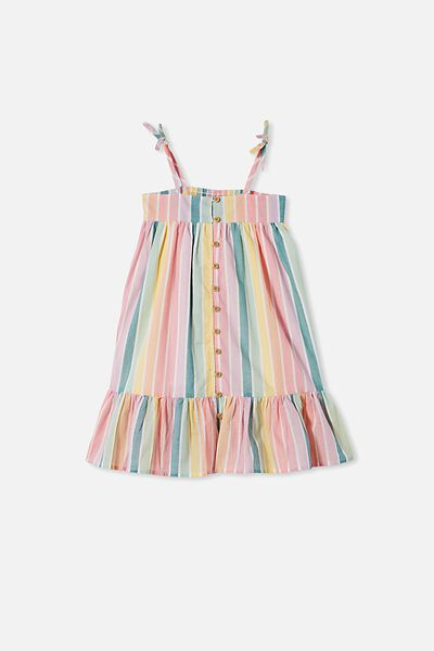 Elle Sleeveless Dress, RAINBOW STRIPE