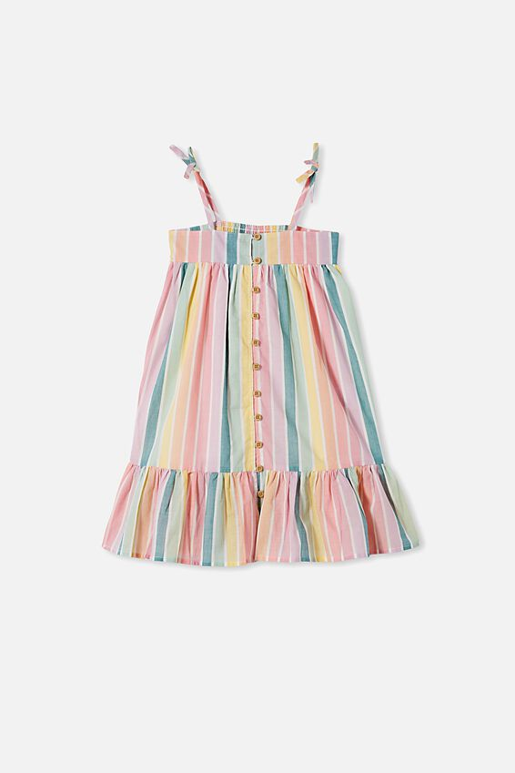 Elle Sleeveless Dress, RAINBOW STRIPE