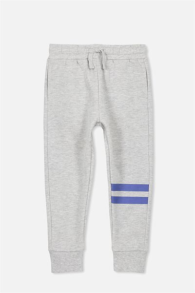 Lewis Trackpant, LIGHT GREY MARLE STRIPE