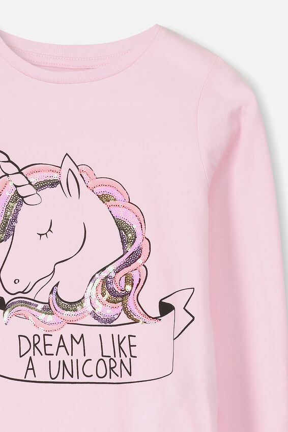 Anna Long Sleeve Tee, PINK LADY/DREAM UNICORN
