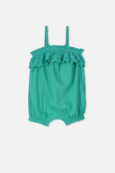 Clementine Playsuit, PEACOCK GREEN