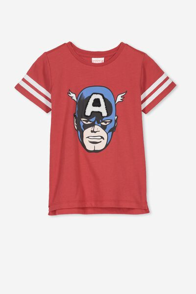 Short Sleeve License1 Tee, LCN MAR/RED KETCHEP/CAPTAIN AMERICA