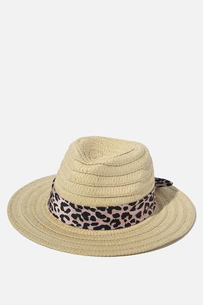Floppy Hat, NATURAL/ANIMAL