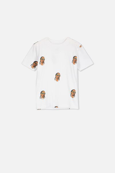 Co-Lab Short Sleeve Tee, LCN MT SNOOP YARDAGE WHITE