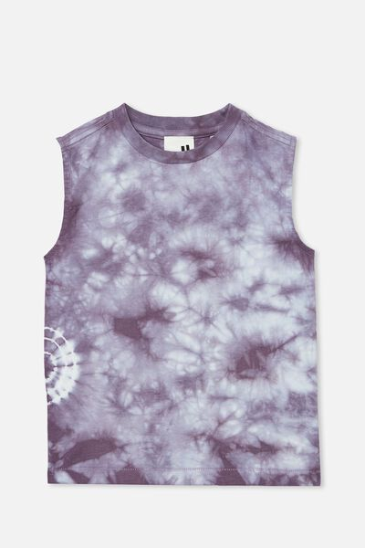 Kingston Muscle Tank, DUSK PURPLE/TIE DYE