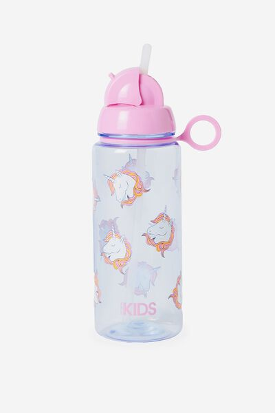 Spring Drink Bottle, PURPLE UNICORN