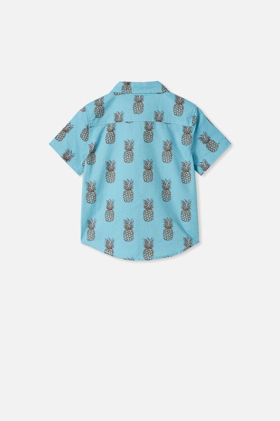 Resort Short Sleeve Shirt, PINEAPPLES/BLUE ICE