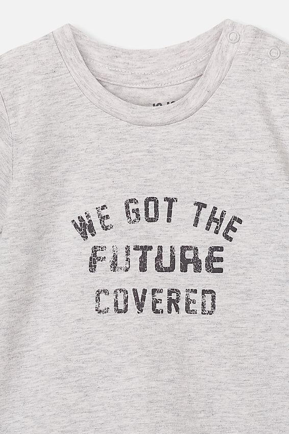 Jamie Short Sleeve Tee, CLOUD MARLE/WE GOT THE FUTURE COVERED