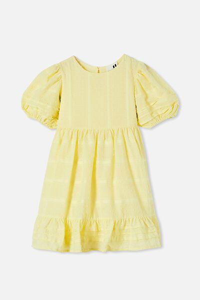 Mika Short Sleeve Dress, LEMONADE