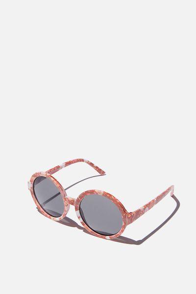 Kids Retro Sunglasses, FLORAL ROUND