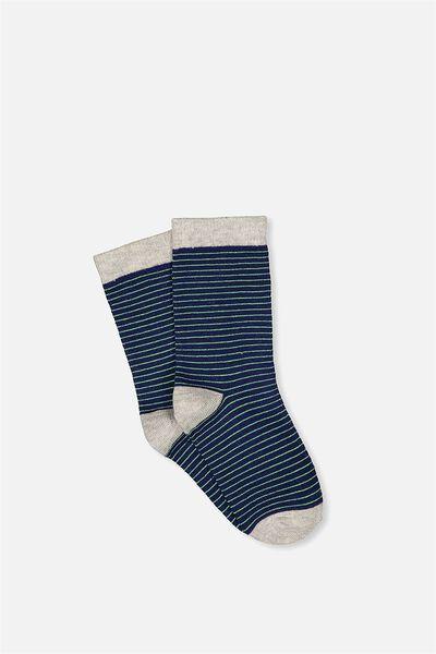 Fashion Kooky Socks, BLUE PRINT STRIPE