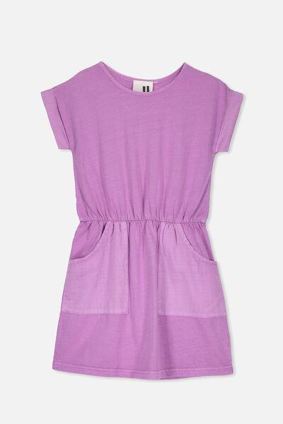 Sibella Short Sleeve Dress, IRIS ORCHID