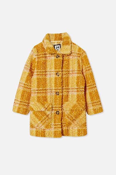 Cecilia Check Jacket, HONEY GOLD CHECK