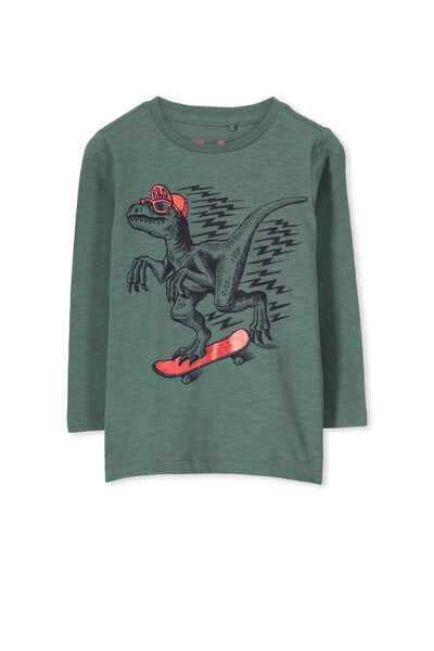 Tom Ls Tee, DARK FOREST/SKATE DINO