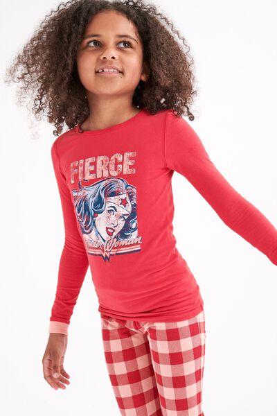 Lila Long Sleeve Pajama Set, LCN FIERCE WW JOLLY RED