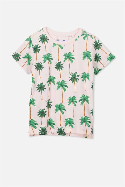 Max Short Sleeve Tee, BLUSH PALM TREES/SIS