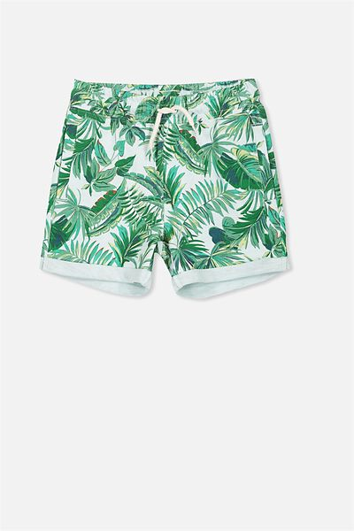Henry Slouch Short, COOL BLUE/TROPICAL