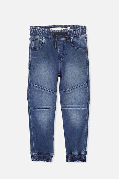 Logan Track Denim Pant, TRUE BLUE