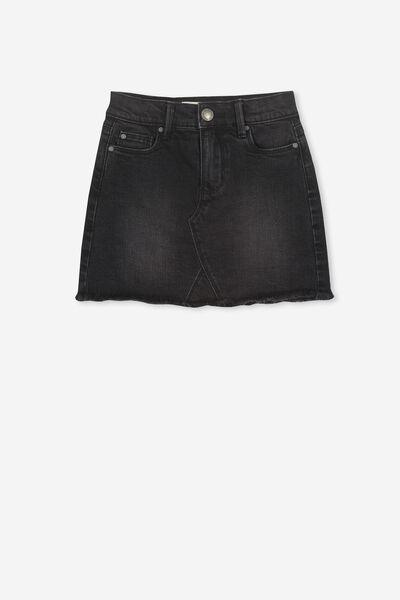 Finn Denim Skirt, WASHED BLACK
