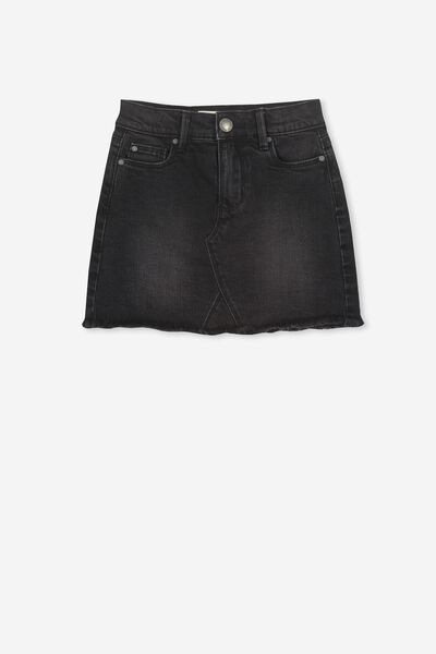 Finn Denim Skirt, WASHED BLACK