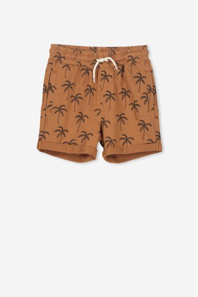 Henry Slouch Short, BURNT GINGER/PALMS