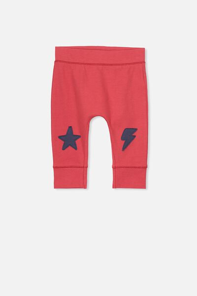 Mini Legging, BONFIRE RED/STARS AND LIGHTENING KNEES